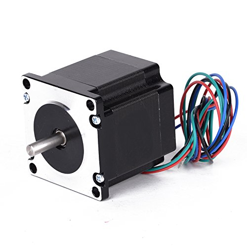 WILLAI 1pc 24V Nema 23 Stepper Motor Single Shaft 1.8Degree 4 Leads 4 Channel 56mm Mayitr For 3D Printer by WILLAI