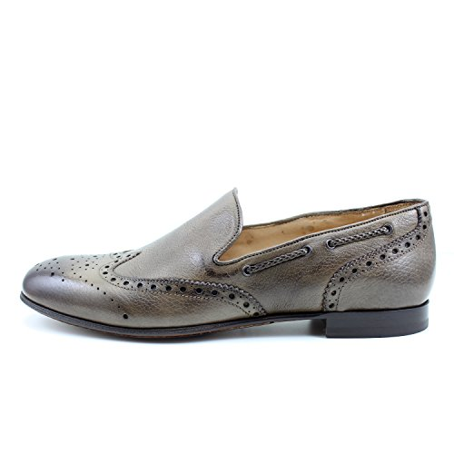 Zapatos Mano Hombre Mocasines Brogue Oxfords Marron Hombre Para Real EN Rea Hecho Zapatos A Marrón Giorgio Italia Richelieu Cuero Elegante vZt0Uqxw