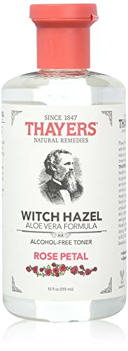 Thayers Alcohol-free Rose Petal Soothing Witch Hazel for Face & Skin with Aloe Vera, 12 oz (Pack of 3) ()