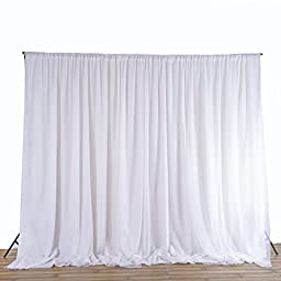 BalsaCircle 20 ft x 10 ft Fabric Backdrop Curtain - 2 colors available