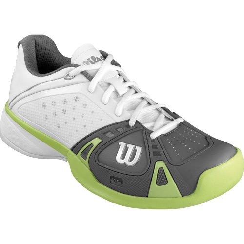 Zapatos wilson hombre Rush Pro Clay Court blanca/gris/verde 2014, blanco blanco