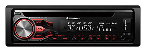 Pioneer DEH-4800BT CD-Tuner mit RDS, Bluetooth, USB und AUX-Eingang für Apple iPod/iPhone Direktsteuerung (1-DIN) schwarz