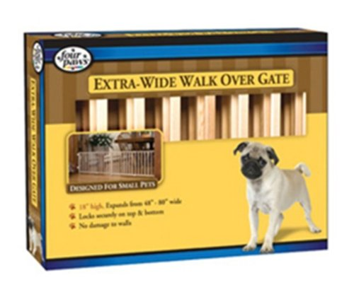 Four Paws Products Expandable Vertical Wood Slat Gate