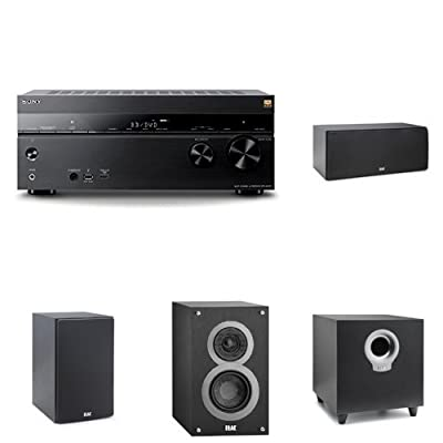 Sony 7.2 Channel Hi-Res Wi-Fi Network 4K AV Receiver (STRDN1070) with an Elac 5.1 Speaker System