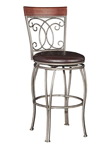 Powell Furniture 16B8217BS Bailey Big & Tall  Barstool Bar Stools - Powell Brown Bar Stools