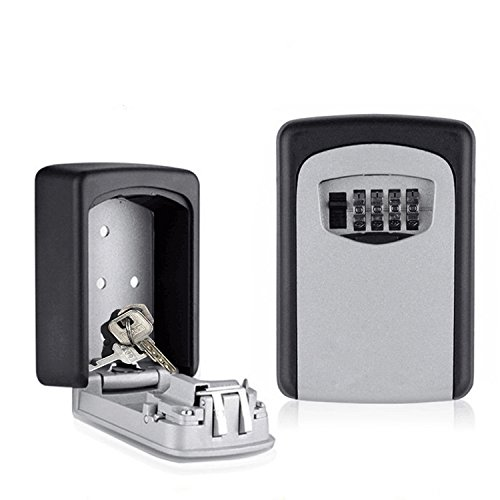Wall Mount Key Lock Box - Combination Key Safe Box - More Convenient Key Box with Set Your Own Combination Key Lock
