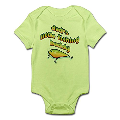 CafePress Dad's Little Fishing Buddy! Infant Bodysuit - Cute Infant Bodysuit Baby Romper - Dads Little Fishing Buddy