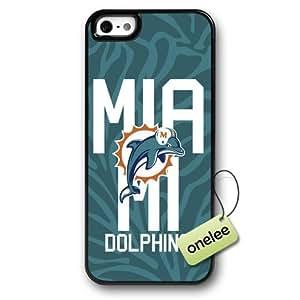 NFL Miami Dolphins Team Logo Case For Iphone 4/4S Cover Black Hard Plastic Case CovBlack 2
