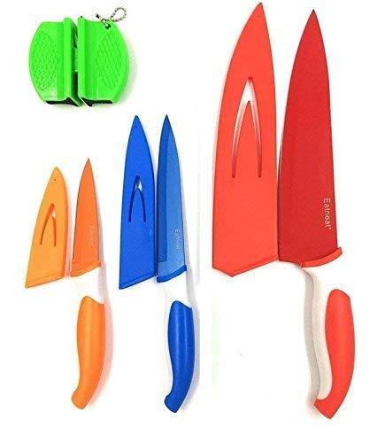 Amazon.com: Juego de 12 cuchillos afilados de color: 5 ...