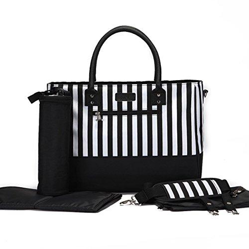 LuxJa Women's New Diaper Handbag Black