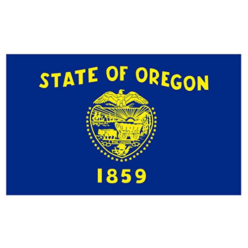 Oregon State Flag Reflective Decal - Five Inch Wide Full Color Decal, Sticker, for Indoor or Outdoor Use - Full Color Decal On 3M Reflective Material, - Stores Medford Oregon