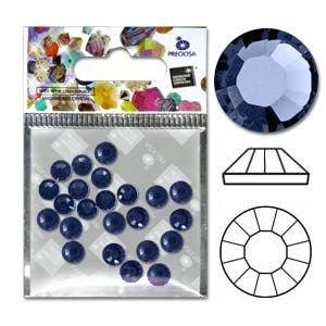 Preciosa Viva Flatbacks 30Ss(6.4Mm) Sapphire - Pkg Of 12 Czech Glass Beads - 30ss Sapphire