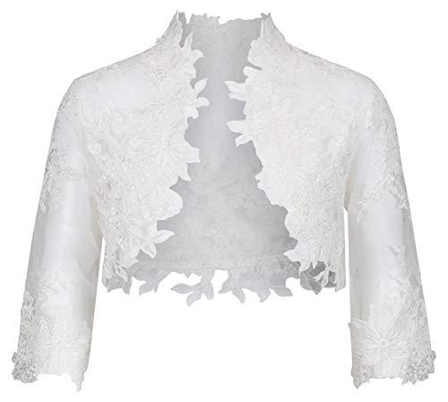 Cinda Baby Girls Lace Long Sleeve Bolero Jacket