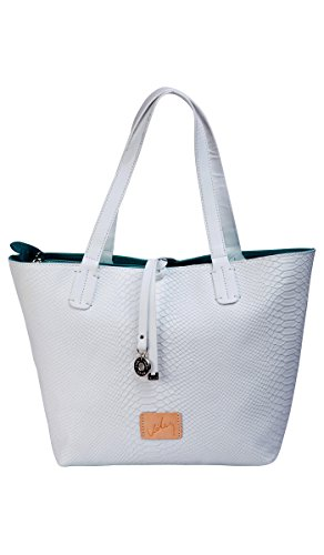 Blanco Pulls (Velez Large Leather White Handbags for Women Bolso de Mujer Blanco Cuero Hecho en)
