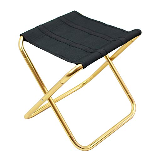 Geelife Portable Stool Folding Chair Lightweight Aluminum Camping Seat Collapsible Sturdy Hiking Fishing Travelling Outdoor Picnic Stools ()