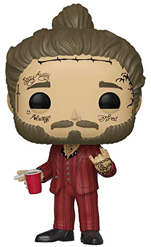 Funko- Pop Vinilo Post Malone Rocks Figura Coleccionable, Multicolor, Talla unica (39181)
