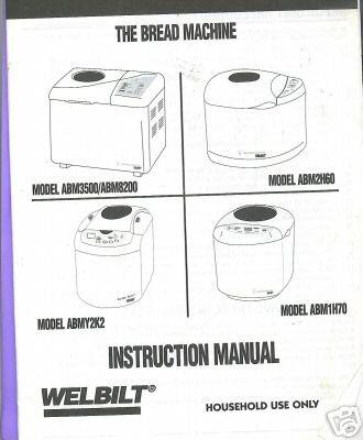 Amazon Welbilt Bread Machine Manual Abm1h70 Bread Machine