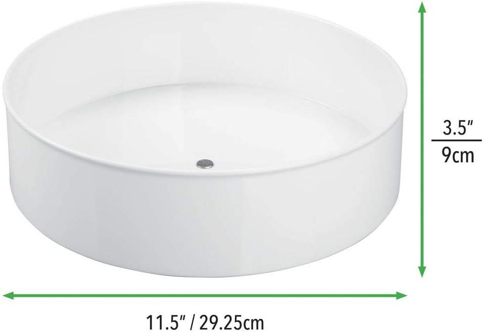 mDesign Lazy Susan mit 29,2 Durchmesser f/ür das K/üchenregal drehbarer Gew/ürzhalter aus Kunststoff praktisches Gew/ürzregal f/ür K/üchenschrank anthrazitgrau