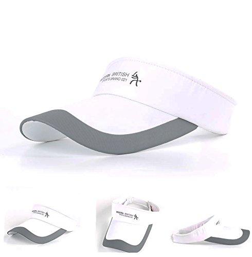 tennis taglia unica berretto con visiera in cotone con chiusura in velcro HYSENM ciclismo regolabile unisex per viaggi resistente ai raggi UV