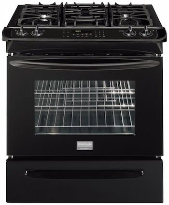"Frigidaire FGGS3065KBGallery 30"" Black Gas Slide-In Seale..."