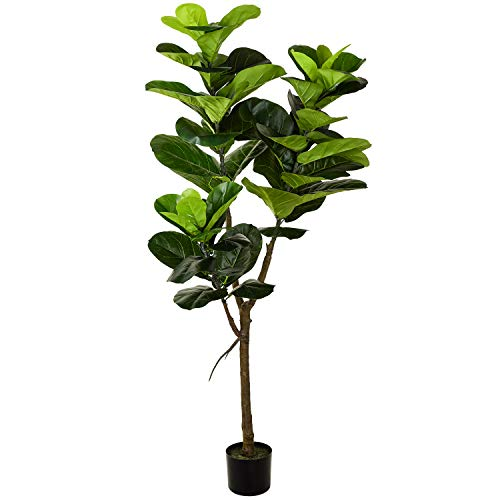Woooow Artificial Fiddle Leaf Fig Tree in Planter