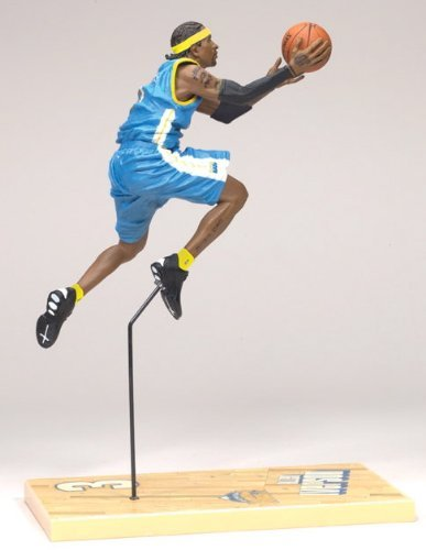 ALLEN IVERSON / DENVER NUGGETS * BLUE JERSEY * McFarlane 6 Inch NBA SERIES 12 Sports Picks Action Figure
