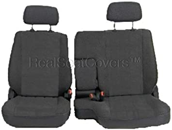 Superb A57 Toyota Pickup 1990 1995 Front 60 40 Split Bench Seat Covers Premium Triple Stitched With 10Mm Thick Custom Made For Exact Fit Charcoal Dark Ibusinesslaw Wood Chair Design Ideas Ibusinesslaworg