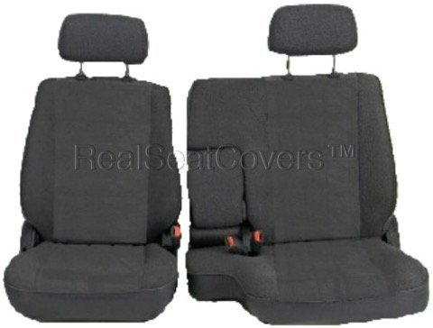 A67 Toyota Tacoma 1995-2000 Front 60/40 Split Bench Seat Covers - Premium Triple Stitched with 10mm Extra Thick Padding Custom Made for Exact Fit (Charcoal, Dark (Split Front Bench Seat)