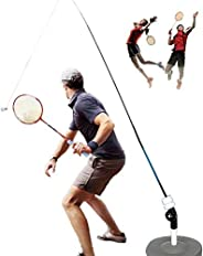 TIFALEX Badminton Single Training Device   Solo Badminton Trainer Set for Adults and Professionals   Self-Stud