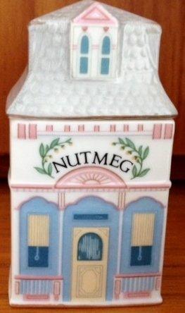 (Lenox 'Spice Village' Porcelain Victorian House Spice Jar - Nutmeg)