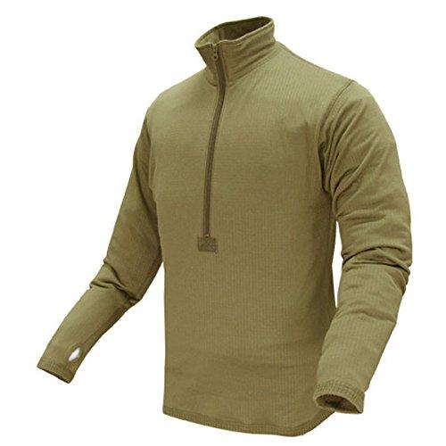 Fleece Shirt Neck Zip (Condor BASE II Zip Pullover (Medium, Tan))
