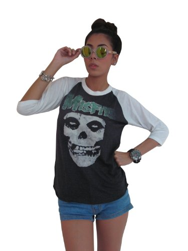Bunny Brand Women's Misfits Distressed Skull Raglan for sale  Delivered anywhere in Canada