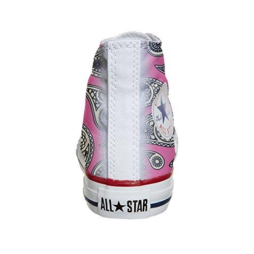 Converse All Star Hi chaussures coutume (produit artisanal) Floral Paisley
