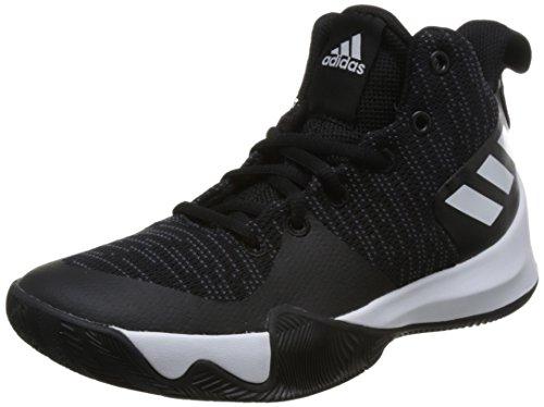 adidas Explosive Flash K Basketball-Schuhe-Kinder - cblack/carbon/ftwwht, Größe #:6.5