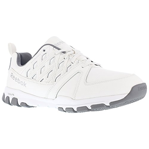 Reebok Work Men's Sublite Work RB4442 Industrial and Construction Shoe, White, 9.5 W (Toe Electrostatic Dissipating Slip)