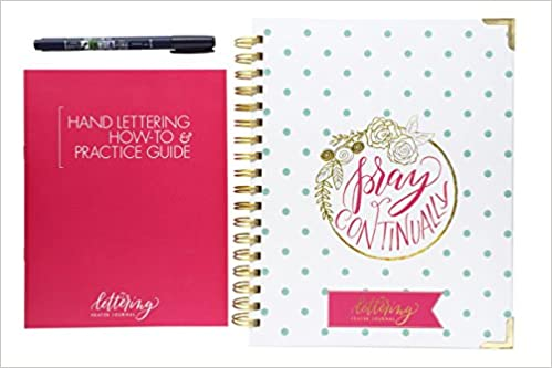 The Lettering Prayer JournalTM Package With Hand Booklet Gift Box And Calligraphy Pen 52 Weeks Of Scripture Prompts Categories