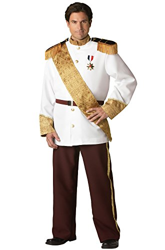 InCharacter Costumes Men's Plus Size Prince Charming Costume, White/Burgundy/Gold, -