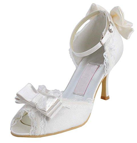 Kevin Fashion , Chaussures de mariage tendance femme - Beige - ivoire, 43