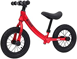 KHLKGMW Lightweight Balance Bike for Toddler Training and 2 3 4 5 Year Old Kids, Lightweight Aluminum Sport Training Bicycle with No Pedal Footrest,Multiple Colors (Color : Red)
