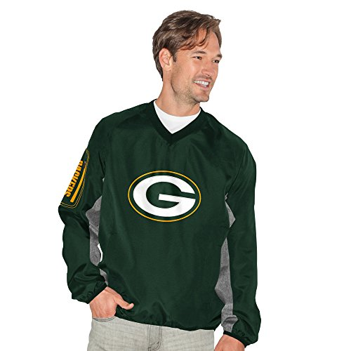 G-III Sports by Carl Banks Adult Men Gridiron V-Neck Pullover, Green, Large