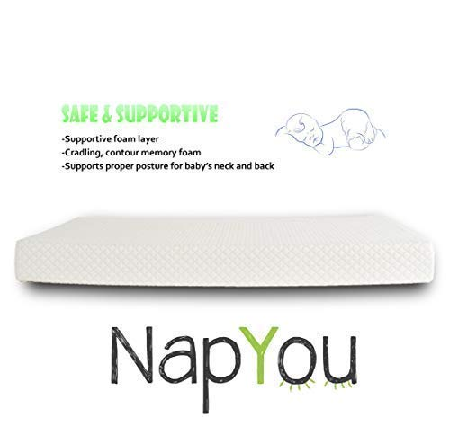 Official Amazon Exclusive NapYou Dual Comfort Crib Mattress, Firm Side for Infant & Soft Side for Toddler with 100% Waterproof Cover Made with Organic Cotton - Reversible Baby Mattress 3