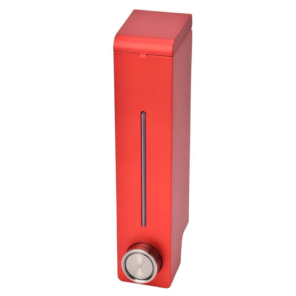Rojo l/ínea Visible de 305 ml Dispensador de champ/ú con loci/ón de Mano construcci/ón a Prueba de Fugas para la Cocina y el ba/ño Dispensador de jab/ón montado en la Pared