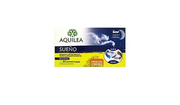 AQUILEA SUEÃO MELATONINA 1.95 + VALIANA + PASIFLORA + AMAPOLA DE CALIFORNIA 60 COMPRIMIDOS BICAPA: Amazon.es: Salud y cuidado personal
