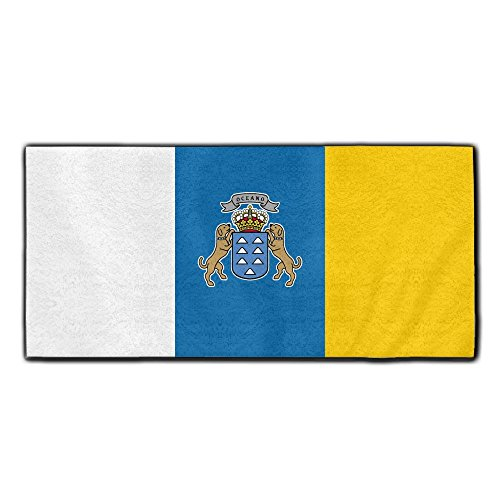 ChunLei Flag Of The Canary Islands Washcloths Face Towel Hair Care Towel Gym And Spa Towel Kitchen Dish Towel ()