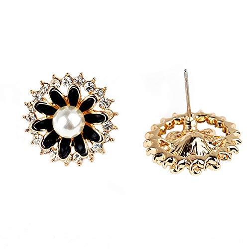 Diamond-Studded Earrings Wild Temperament Net Red Pearl Girl Earrings Fashionable Earrings ()