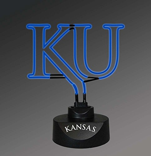 NCAA The University of Kansas Col-Kan-1808Neon Lamp, Multi, One (Kansas University Desk)