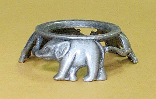 Pewter 3 Elephants Hen Egg Stand Holder Display, Pysanka Stand Holder Display