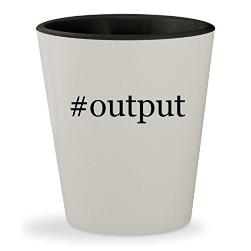 Price comparison product image #output - Hashtag White Outer & Black Inner Ceramic 1.5oz Shot Glass