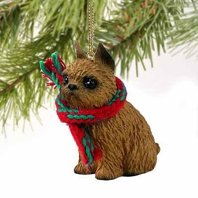 Brussells Griffon Miniature Dog Ornament - Red