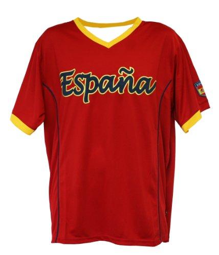 World Cup Soccer Espana Home Performance Poly Shirt, Medium, Red